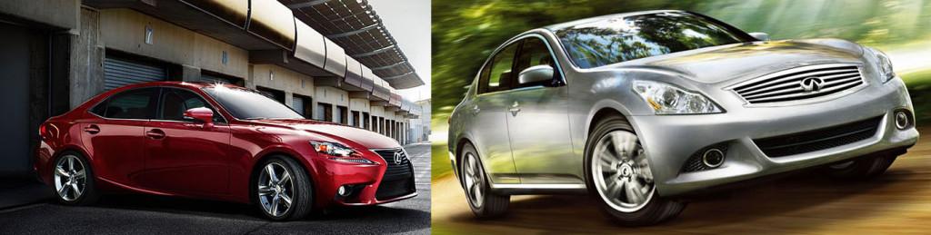 Lexus IS350 vs Infiniti G37  060 Specs