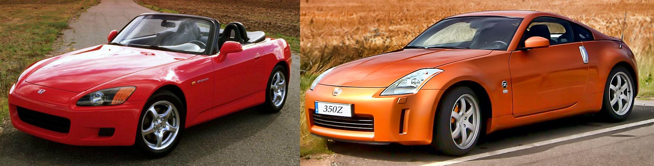 Honda S2000 vs Nissan 350z  060 Specs