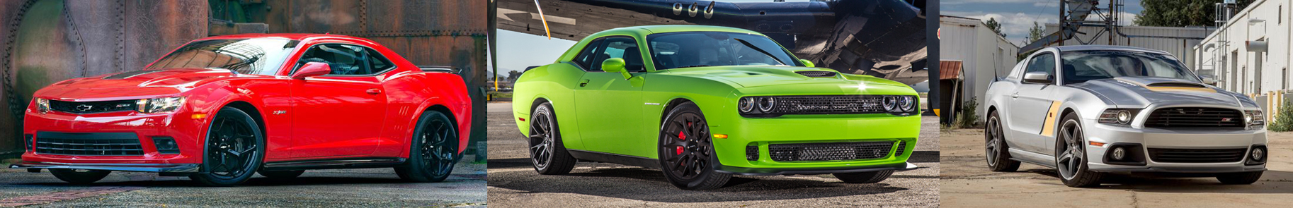 Chevy Camaro vs Dodge Challenger vs Ford Mustang  060 Specs