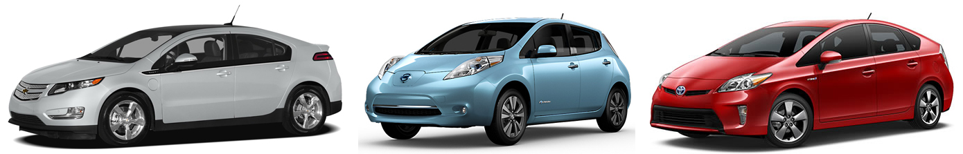 nissan leaf vs toyota prius vs chevrolet volt which is the best 0 60 specs. Black Bedroom Furniture Sets. Home Design Ideas