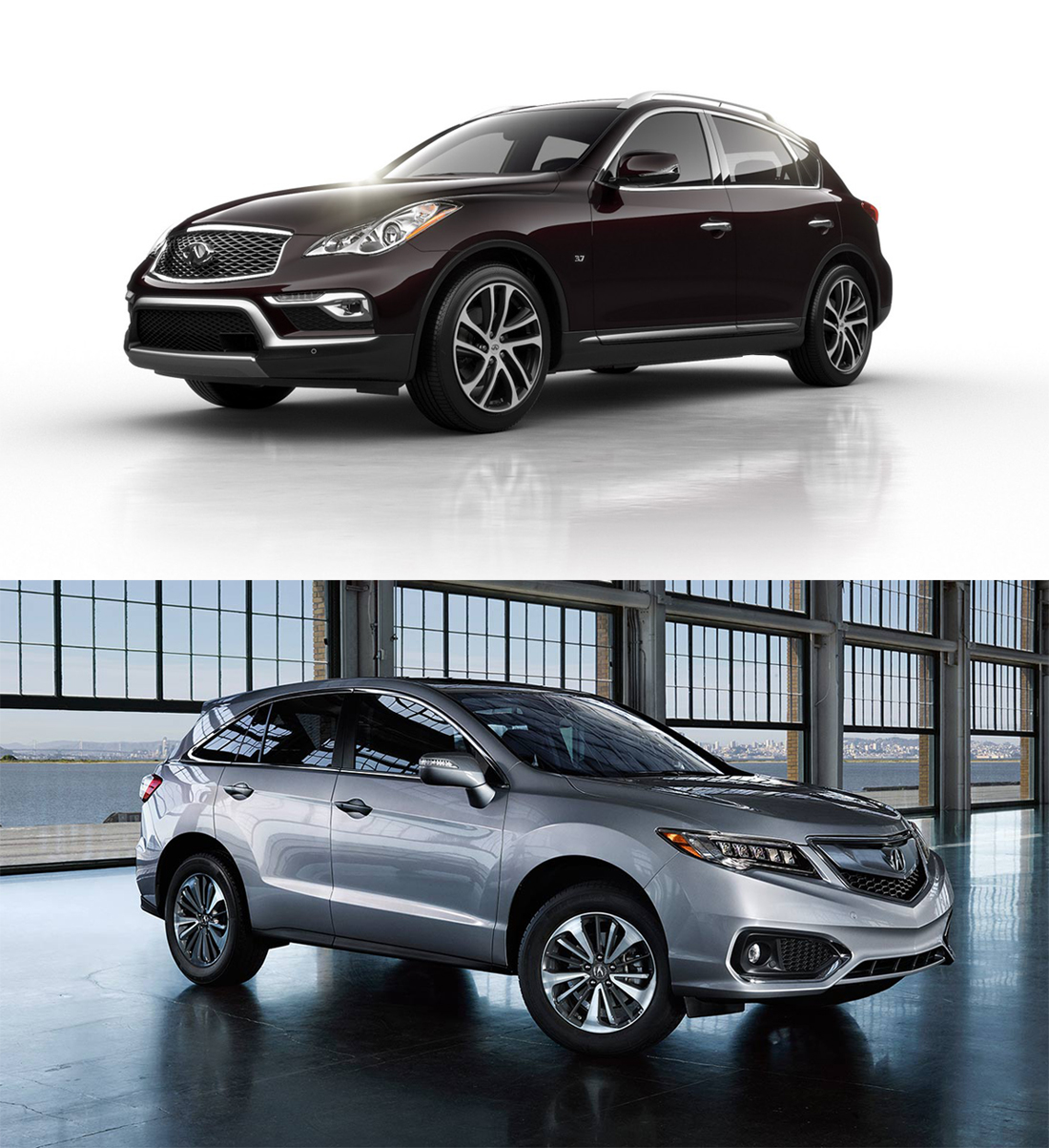 battle of japanese crossovers infiniti qx50 vs acura rdx 0 60 specs. Black Bedroom Furniture Sets. Home Design Ideas
